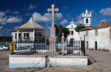 O Cruzeiro, o Coreto e a Igreja