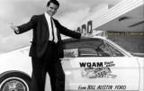 1964 - Charlie Murdock with the WQAM Tiger in a Mustang