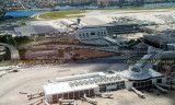 2007 - aerial photo of Concourse A, the Central Chiller Plant, and Concourse J/South Terminal at Miami International Airport
