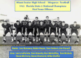 1962 - Miami High School Football National Champs' offense