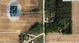 Aerial view of Stevens Cemetery just west of Illinois state road 26 in Lee County six miles north of Ohio, Illinois