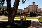 June 2005 - Donna and Karen after lunch at the beautiful Broadmoor Hotel on Lake Cheyenne