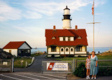 June 1997 - Donna and Karen at the Coast Guard Light Station Portland Head, Maine