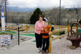April 2014 - Karen with our grandson Kyler after playing miniature golf at Adventure Golf in Colorado Springs