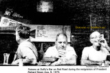 1974 - patrons at Duffy's Bar on Red Road during President Nixon's resignation