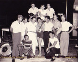 1955 - Hialeah Speedway drivers and trophy girl (see below for names)