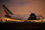 2014 - the inaugural Air France A380-861 F-HPJH flight from Paris to Miami landing on runway 9 at night