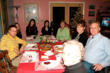 December 2005 - David, Donna, Katie, Natsumi, Karen, Kathy and Jim Criswell and Esther Criswell at Christmas Eve dinner