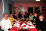 December 2005 - Don, David, Donna, Katie, Natsumi Iwamoto, Karen, Kathy and Esther Criswell at Christmas Eve dinner