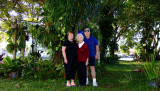 December 2014 - Karen, her mom Esther and Don in Wendy and Jim's backyard