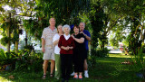 December 2014 - Jim Hager, Wendy, Esther, Karen and Don in Wendy and Jim's backyard