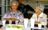 March 2015 - sisters Thelma Blasko and Esther Criswell at Esther's 94th birthday luncheon in St. Petersburg