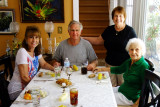 May 2015 - Kathy Criswell, Jim Criswell, Karen Criswell and Esther Criswell at Wendy's in St. Petersburg