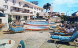 1960's - the pool deck area at the Miami Skyways Motel across from the airport on LeJeune Road