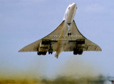 1988 - British Airways Concorde G-BOAE rocketing off runway 9-left at MIA
