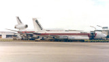 Late 1970's - a Western Airlines B720B and DC-10 at Concourse C at Miami International Airport