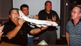 2001 - Eddy Gual, Keith Stibbe, Phil Glatt and Don Boyd at the unveiling of the unique Boyd Airways Boeing 747-400 model