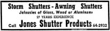 1953 - a Miami News advertisement for Jones Shutter Products