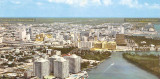Late 1960's / early 1970's - aerial view of the Brickell area, Claughton Island and downtown Miami
