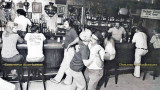 1970's - the interior of the bar in Andytown