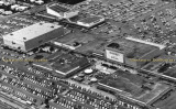 1965 - closeup crop of aerial view of 163rd Street Shopping Center