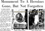 1965 - top portion of Miami News article about Amelia Earhart historical plaques being stolen from former Amelia Earhart Field