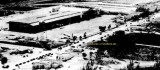 1949 - closeup view of looking southwest at Miami International Airport with LeJeune Road and NW 36th Street in the foreground