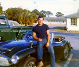 1968 - Ernie Filippini with his Austin Healey 3000 while he was in the Air Force at Tyndall AFB