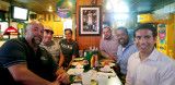 June 2016 - Vic Lopez, Don Boyd, Steven Marquez, Daniel Morales, Suresh Atapattu and Keith Sonderling at Bryson's Irish Pub