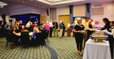 HHS-66 50-Year Reunion and Reunion of the 60's: the food line still winding down on Saturday night at the Milander Center