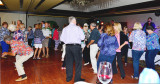 HHS-66 50-Year Reunion and Reunion of the 60's:  classmates dancing on Friday night at the Grand Slam Ballroom