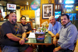 August 2016 - Vic Lopez, Steven Marquez, Kev Cook and Daniel Morales at Bryson's Irish Pub