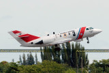 June 2011 - the last Coast Guard Falcon, #CG-2128, departing Opa-locka after retirement ceremony at USCG Air Station Miami