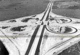 1960 - aerial photo looking north at the under construction Palmetto Expressway (SR 826) and the NW 36th Street interchange