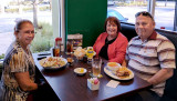 February 2017 - Lynda Atkins Kyse with Karen and Don for lunch at Duffy's Sports Grill