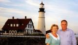June 1997 - Karen and Don at Coast Guard Light Station Portland Head, Maine