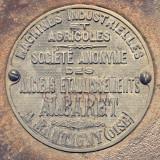 Ancienne plaque (logo) de fabricant de machine agricole
