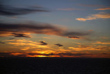 Sunset leaving Oslo