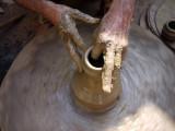Potter's Hands, Haravi, Mumbai, India.