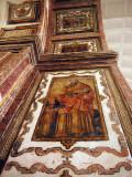 Restored Frescoes, Se Cathedral, Goa, India.