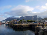 Table Mountain viewed from Alfred Basin, Capetown, South Africa.