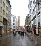 Upmarket shopping street