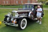 1934 Duesenberg SJ 4-Door Sedan by Rollston, Honorary Chairman's Award, owners: Sonny & Joan Abagnale, Cedar Grove, NJ (9231)