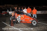 8-6-16 Stockton 99 Speedway: Tom Manning Memorial - BCRA Midgets & Vintage - King of the Wing Sprint Cars