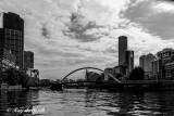B&W scene at Melbourne taken from Yarra River