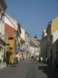 Une rue piétonne pittoresque