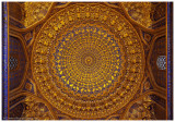 ceiling of the dome of Tilya-Kori Madrasah