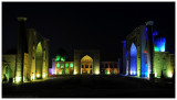 light show at Registan Square