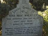 Nina May Wheatley died 29 July 1904