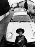 Noël 1977 au Laü avec Olivier et la Porsche
